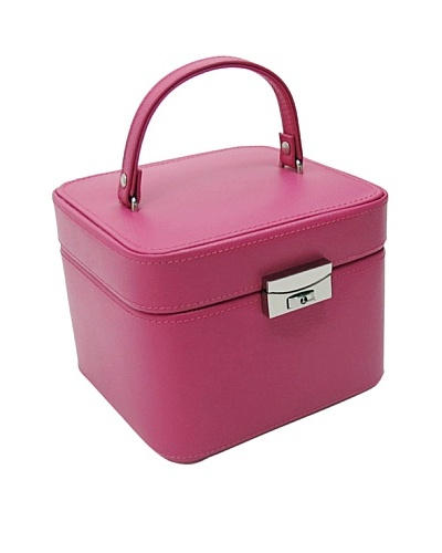 Morelle & Co. Emma Small Leather Jewelry Box, Raspberry