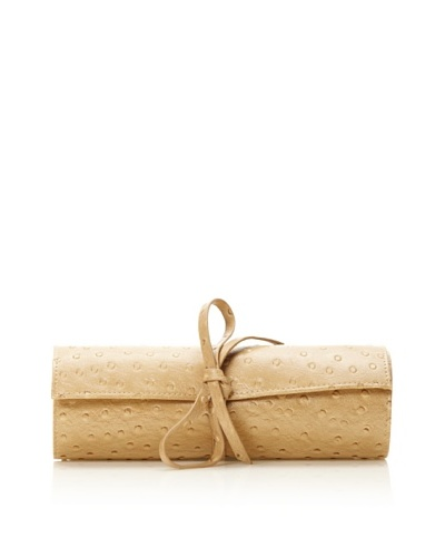 Morelle & Co. Leather Tie Jewelry Roll [Beige]