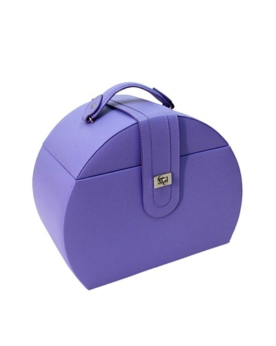Morelle & Co. Diana Leather Purse Jewelry Box with Takeaway Case, Violet Tulip
