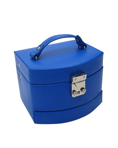 Morelle & Co. Laura Leather Expandable Jewelry Box, Dazzling Blue