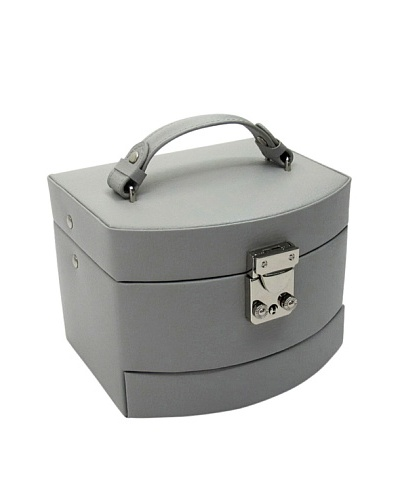 Morelle & Co. Laura Leather Expandable Jewelry Box, Paloma Grey