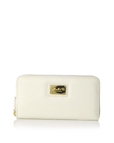 Morelle & Co. Leather Zip Wallet, Cream