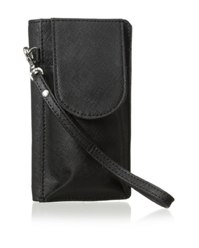 Morelle & Co. Bethany Saffiano Leather Cell Phone Wallet/Wrislet, Black
