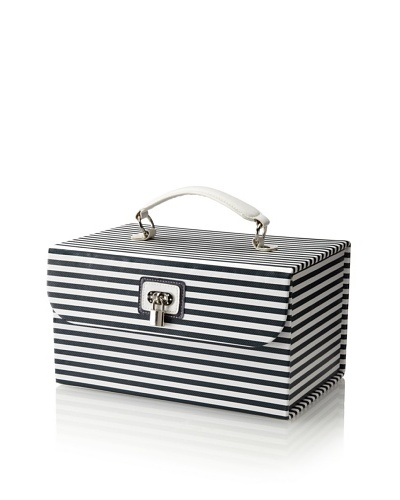 Morelle & Co. Amanda Striped Cosmetic/Jewelry Case, Navy
