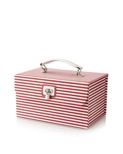 Morelle & Co. Amanda Striped Cosmetic/Jewelry Case, Red