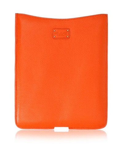 Morelle & Co. Leather iPad Sleeve, Orange