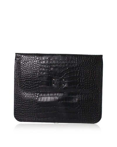 Morelle & Co. Leather iPad Case, Black Croco