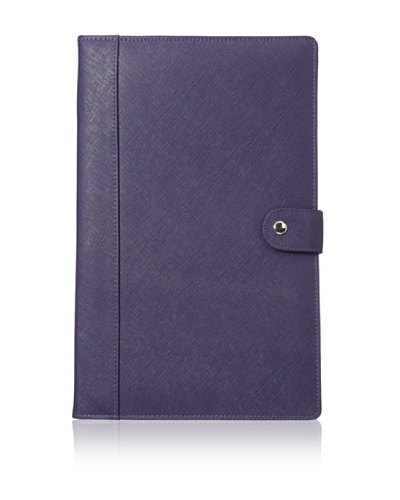 Morelle & Co. Naomi Saffiano Leather Jewelry Notebook, Purple