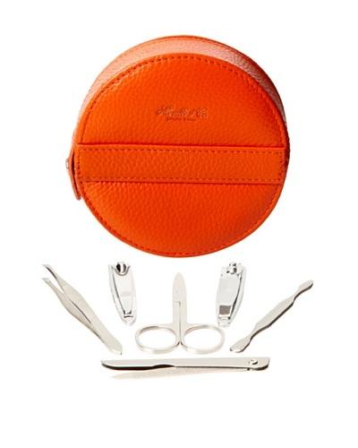 Morelle & Co. Leather Manicure Set, Orange