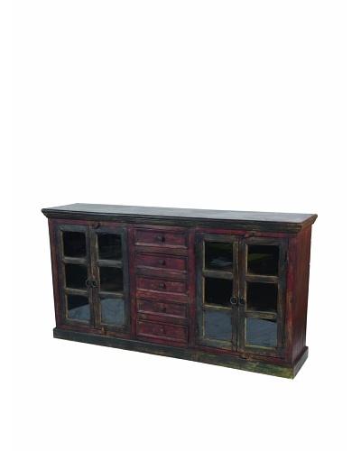 MOTI Historic 4-Glass Door & 5-Drawer Buffet