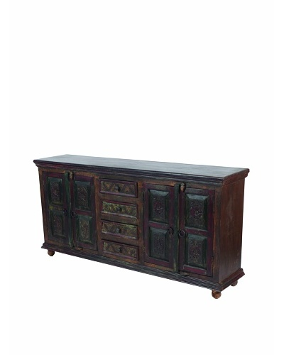 MOTI Historic 4-Carved Door & 4-Vertical Drawer Buffet