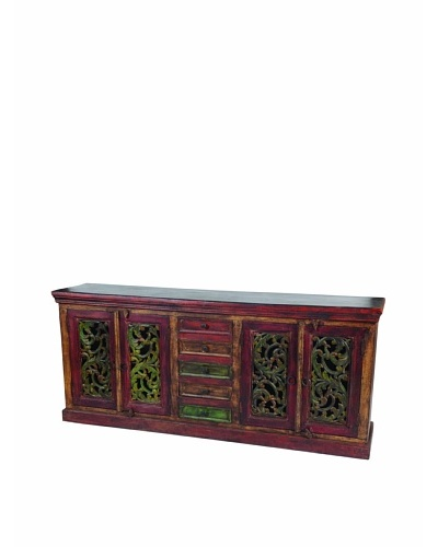 MOTI Historic Short 4-Carved Door & 5-Drawer Buffet