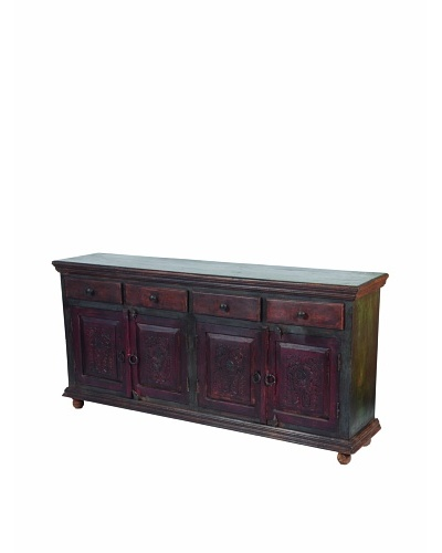 MOTI Historic 4-Carved Door & 4-Horizontal Drawer Buffet