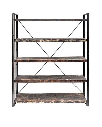Moti Addison Reclaimed Wood & Metal Book Shelf