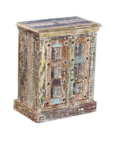 Moti Mezzanine 26 Small Cabinet, White/Multi