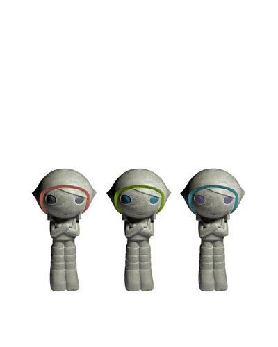 MU Design Co. Concrete Space Girl Figure