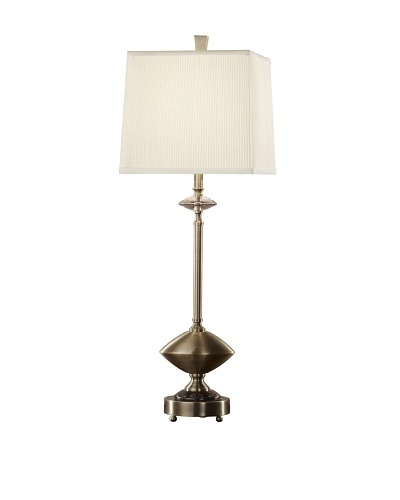 Feiss Lighting Renoir Table Lamp, Dark Coffee Bronze/Off-White