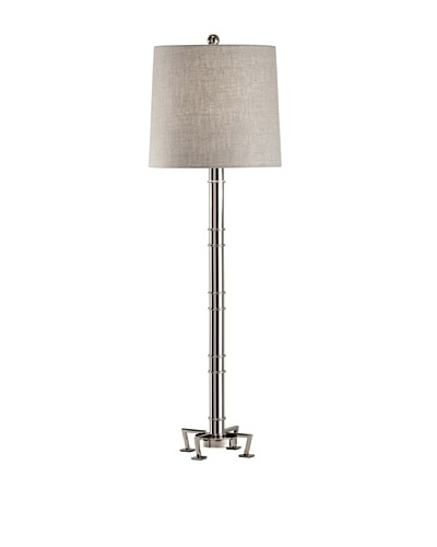 Feiss Lighting Edessa Collection Buffet Lamp [Polished Nickel/Grey]