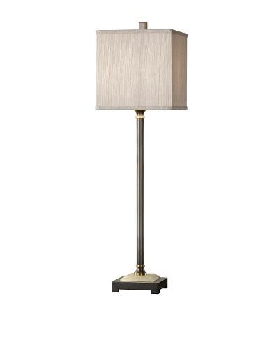 Feiss Lighting Marcus Buffet Lamp, Smoked Bronze/Gray