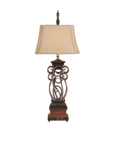 Feiss Lighting Awards Collection Table Lamp, Bronze/Beige/Ivory
