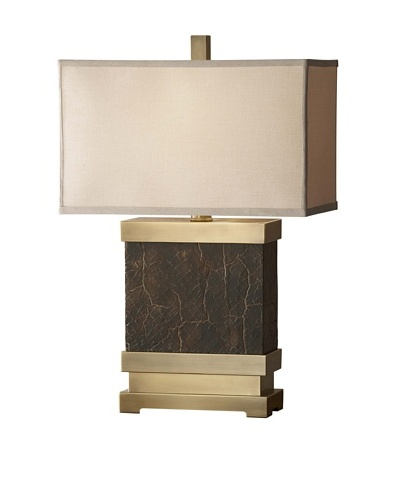 Feiss Lighting Dalton Table Lamp [Bronze/Saddle Brown]