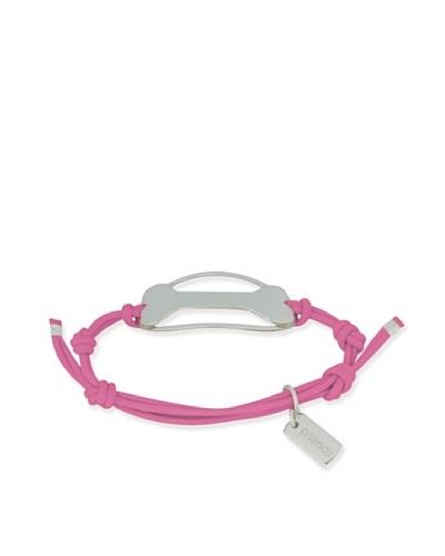 My Canine Kids Binki + Boo Adjustable Oval Bone Bracelet [Neon Pink]