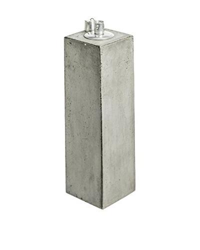 My Spirit Garden Eco-Concrete Honoo Oil Lamp, Stone Grey