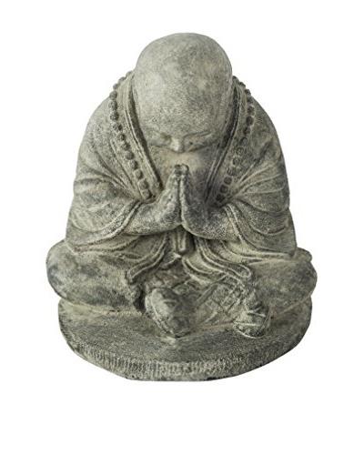 My Spirit Garden Volcanic Ash Bowing Monk Statue | OwnModern.com