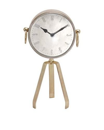 Tripod Roman Numeral Table Clock
