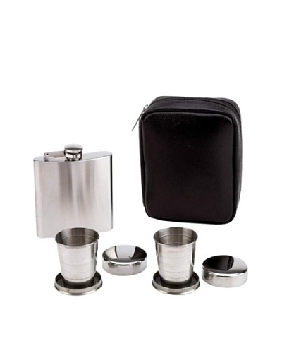 Stainless Steel Flasks & Cups Set with Travel Case