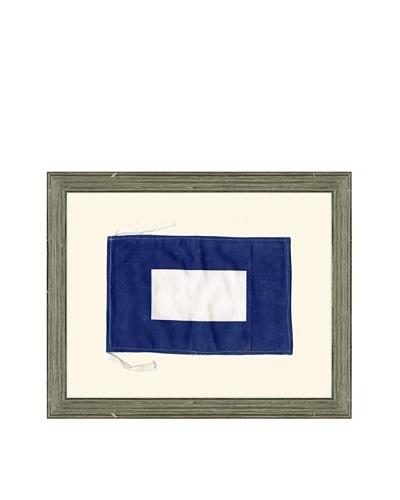 """Framed Maritime Letter P """"Papa"""" Signal Flag"""