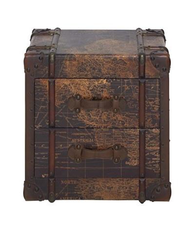Antiqued Wooden Storage Chest