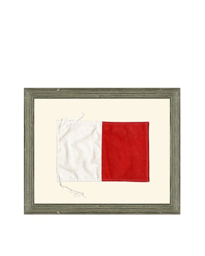 Framed Maritime Letter H Hotel Signal Flag