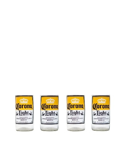 Set of 4 Corona Light Beer Juice Glasses