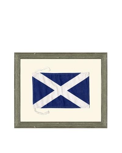 Framed Maritime Letter M Mike Signal Flag