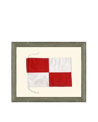 """Framed Maritime Letter U """"Uniform"""" Signal Flag"""