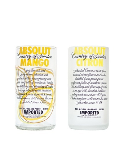 Set of 2 Assorted Absolute Vodka Tumblers