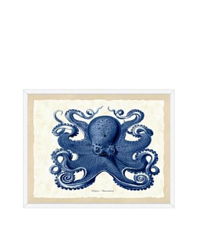 Navy Octopus Framed Print