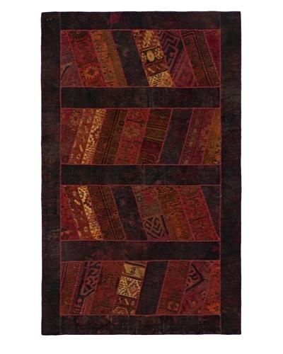 "Hand-Knotted Andelz Wool Rug, Black/Dark Red, 5' 1"" x 8' 4"""