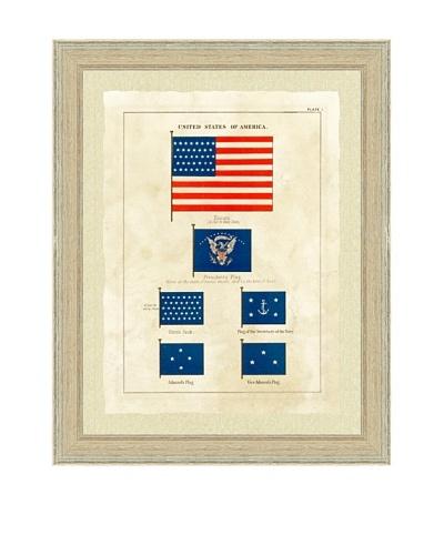 United States Nautical Flag Print I