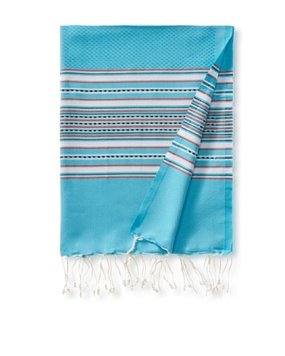Fouta Bath Towel, Aztec Turquoise