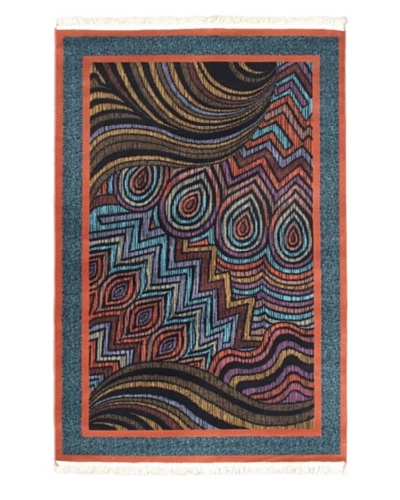 Royale Rug, Copper, Teal, 5' x 7' 6