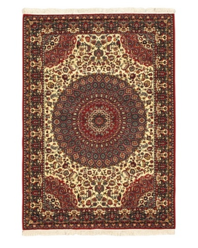 Royale Rug, Cream, Red, 5' 6 x 7' 9