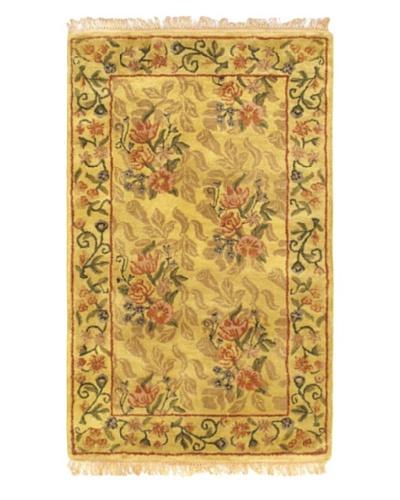 Handmade Classic Enchantment Rug, Light Gold, 3' 3 x 5' 2