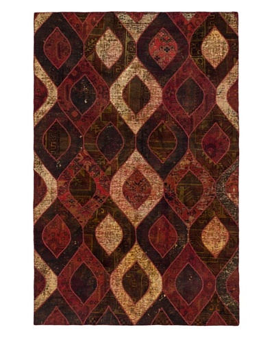 """Hand-Knotted Andelz Wool Rug, Brown/Red, 5' 3"""" x 8'"""