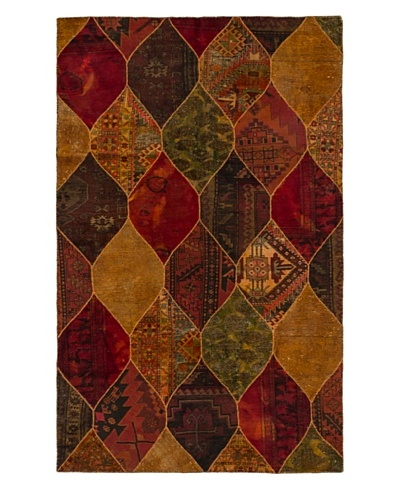 "Hand-Knotted Andelz Wool Rug, Light Brown/Red, 5' 2"" x 8' 3"""