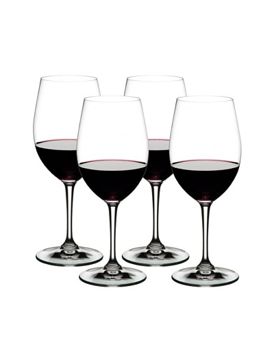 Nachtmann Set of 4 Rosso and Bianco All Purpose Red Wine Glass, Boxed