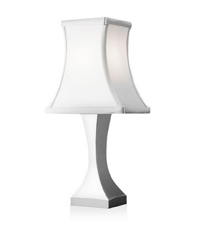 Nambe' Eva Accent Lamp, Polished Alloy with Silver Shade