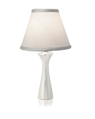 Nambe' Romantic Accent Lamp, Polished Alloy with Silver Shade