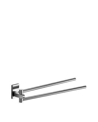 Nameek's Maine Double-Swivel Towel Bar, Polished Chrome